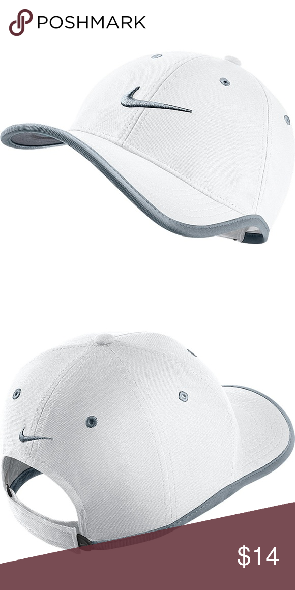38af79ac Unisex Nike Fit Golf Hat White With Gray Trim New with tags The Nike  Ultralight Binded
