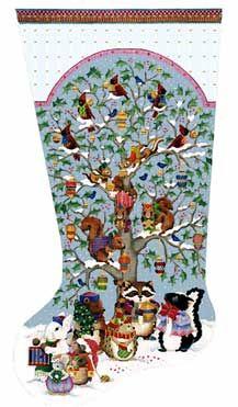 Needlepoint Christmas Stocking Kit.Melissa Shirley Designs Hand Painted Needlepoint