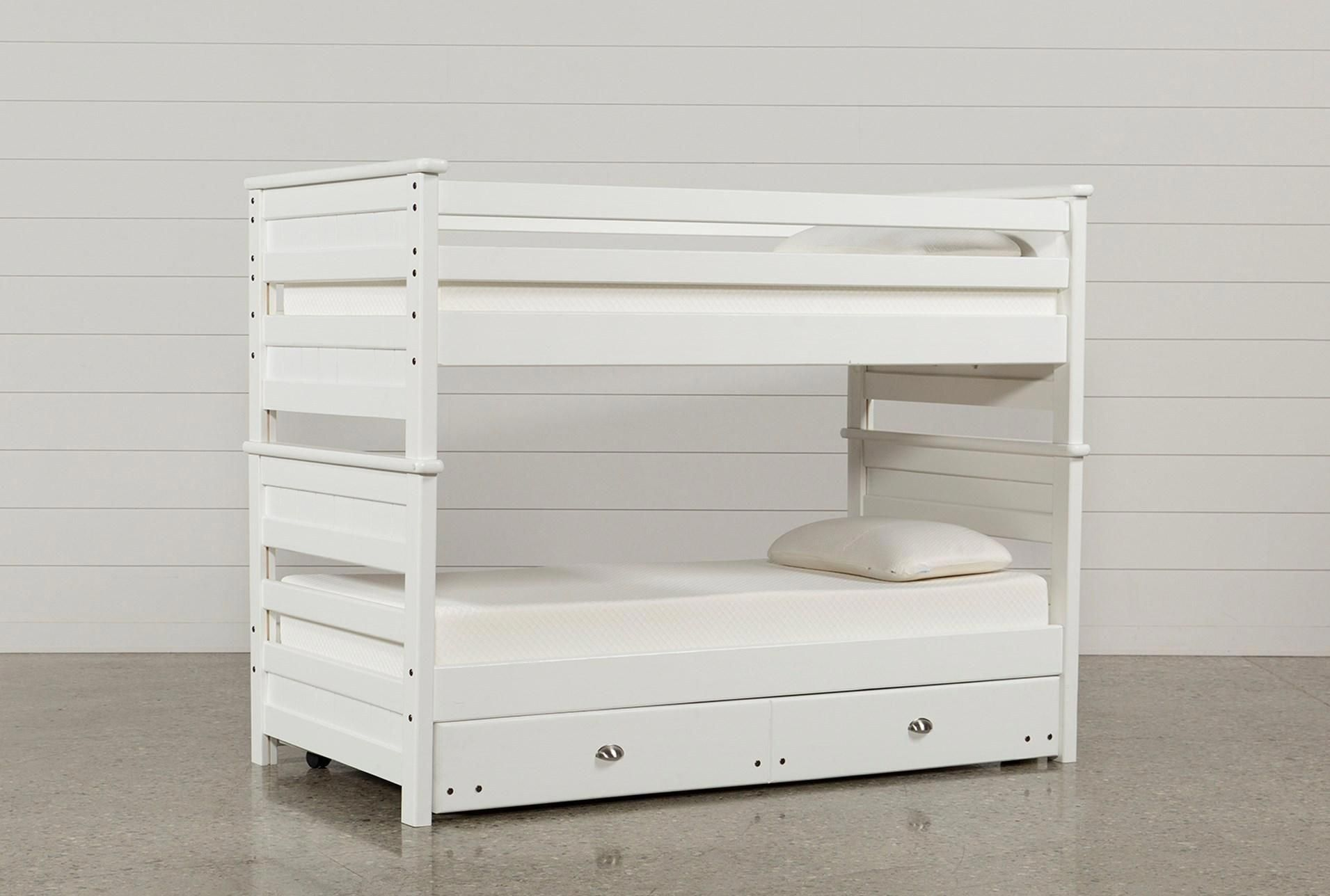 Corner twin loft bed  Shop for Summit White Twin Over Twin Bunk Bed With Trundle With