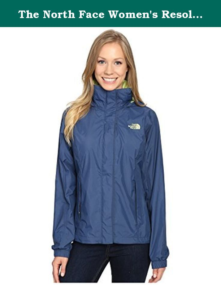 ed0cf5fbc28a The North Face Women s Resolve Jacket Shady Blue (HDC) Waterproof (L). Just  because it s raining outside doesn t mean you have to take a rain check on  your ...
