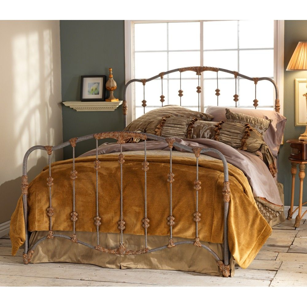 Nantucket Iron Bed by Wesley Allen Textured Blue Finish