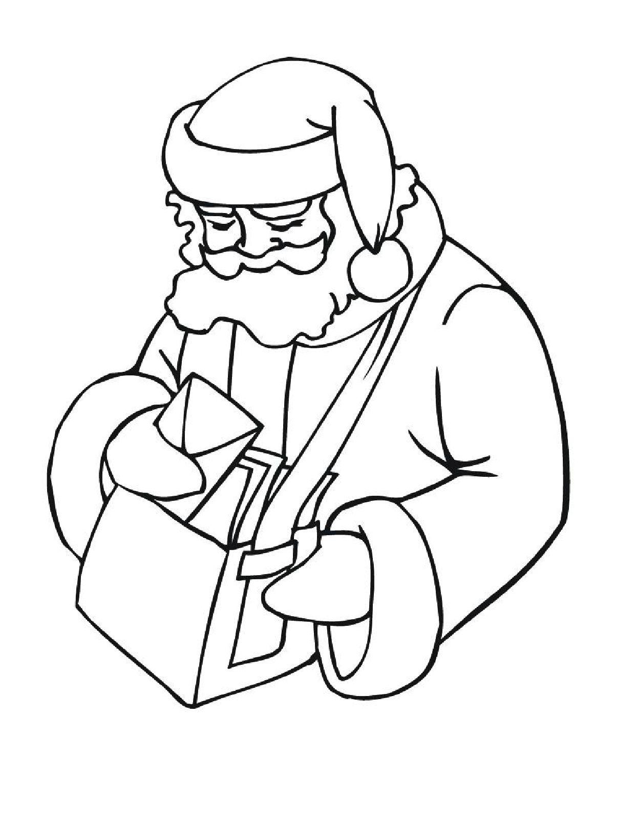 Santas House Coloring Page