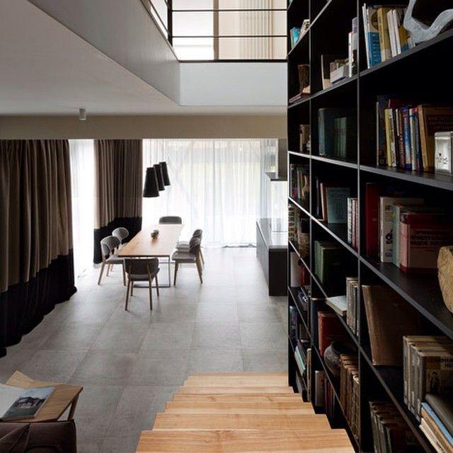 Modern Interiors Design : A staircase runs up alongside a six metre ...