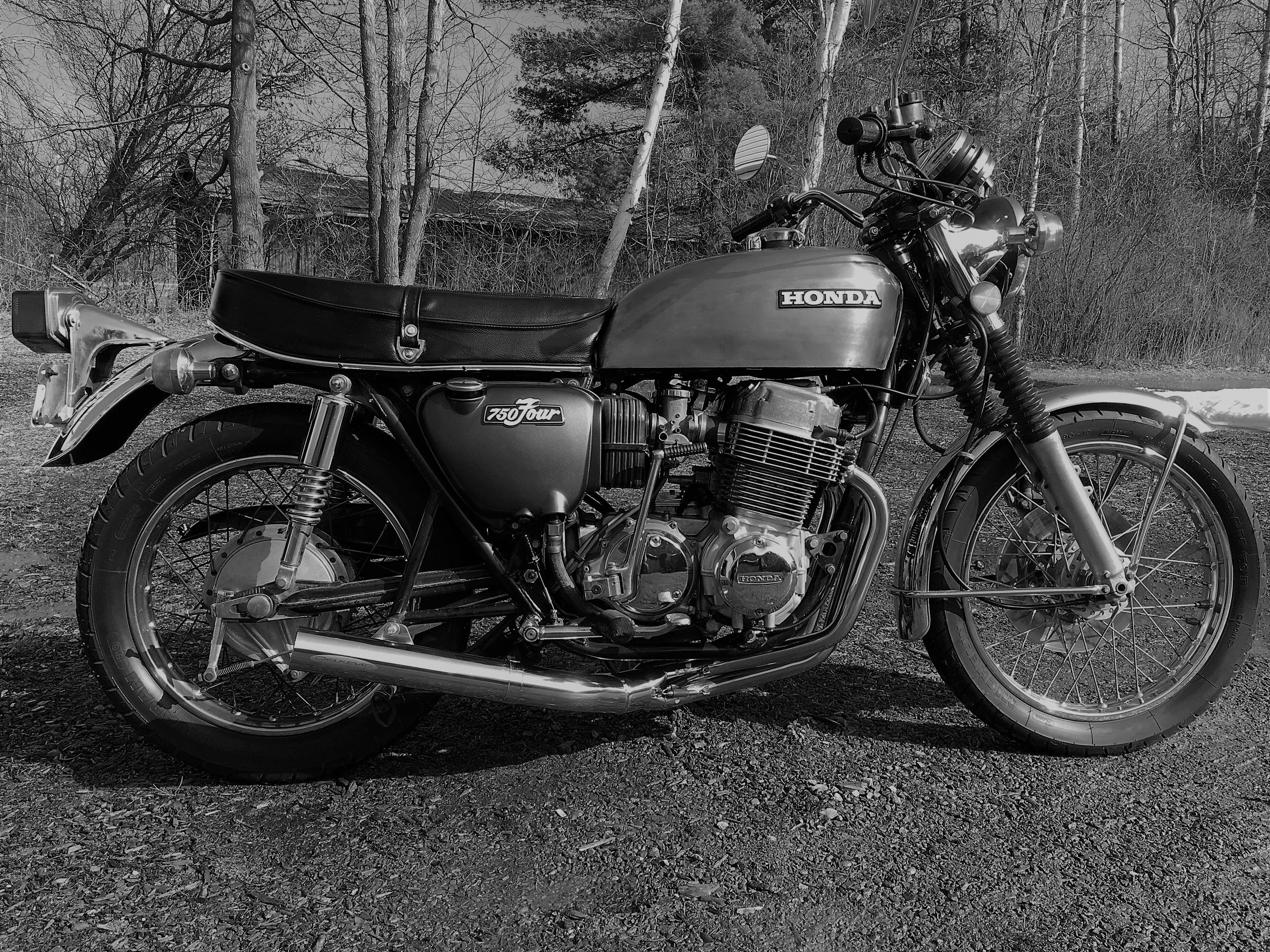 Honda CB750 Black And White Beauty