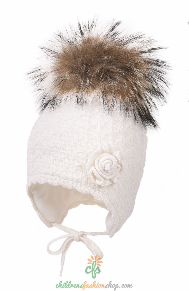 Hats 163224: Girls Samba I Hat With Fur Pom-Pom (Jamiks) -> BUY IT ...