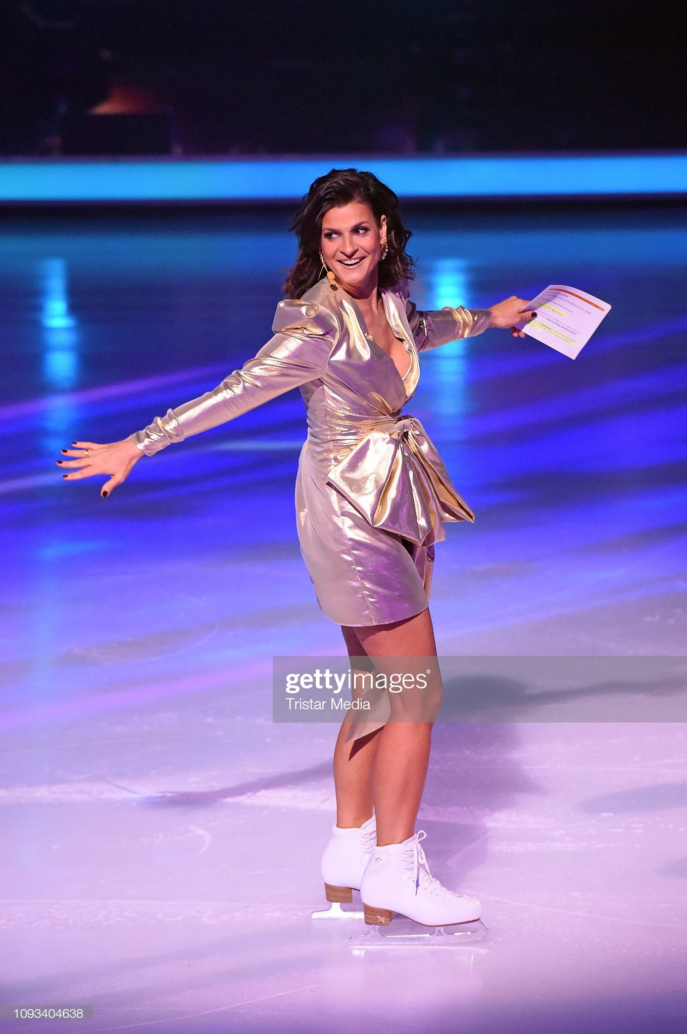 Marlene Lufen During The Dancing On Ice Sat 1 Tv Show On
