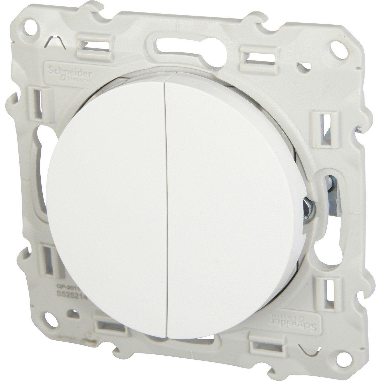 Double Interrupteur Va Et Vient Odace Schneider Electric