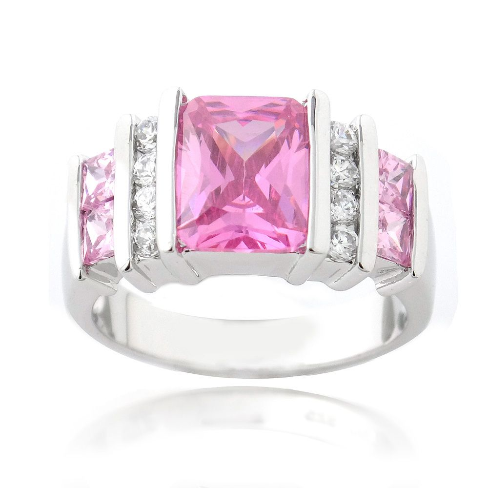 Icz Stonez Sterling Silver Color and White CZ Ring by ICZ Stonez ...