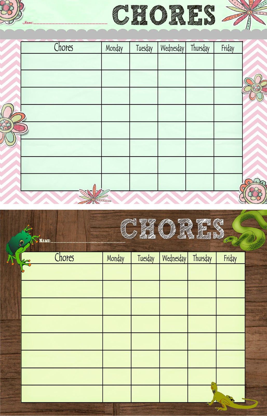 Free Printable Chore Chart Also Earning Girl Scout Daisy