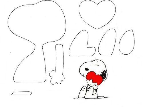 Molde de Snoopy en foami | ADORABLES | Pinterest
