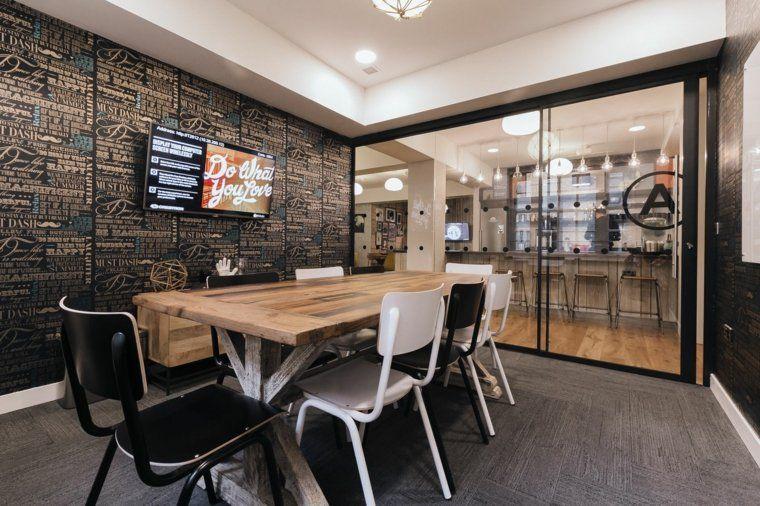 salle de r union avec design original en 57 id es cr atives r unions d co et design. Black Bedroom Furniture Sets. Home Design Ideas