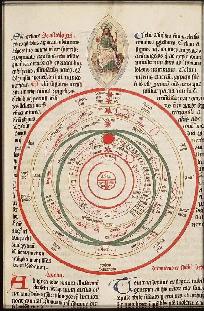 Majestas Domini - T & O map of the world, course of the sun, moon ...
