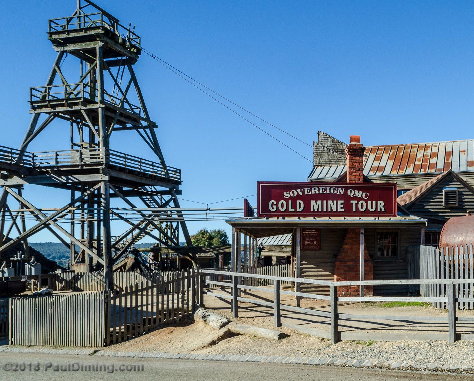 Sovereign Qmc Gold Mine Tour Sovereign Hill Ballarat Victoria Australia Australia Ballarat Gold Mining