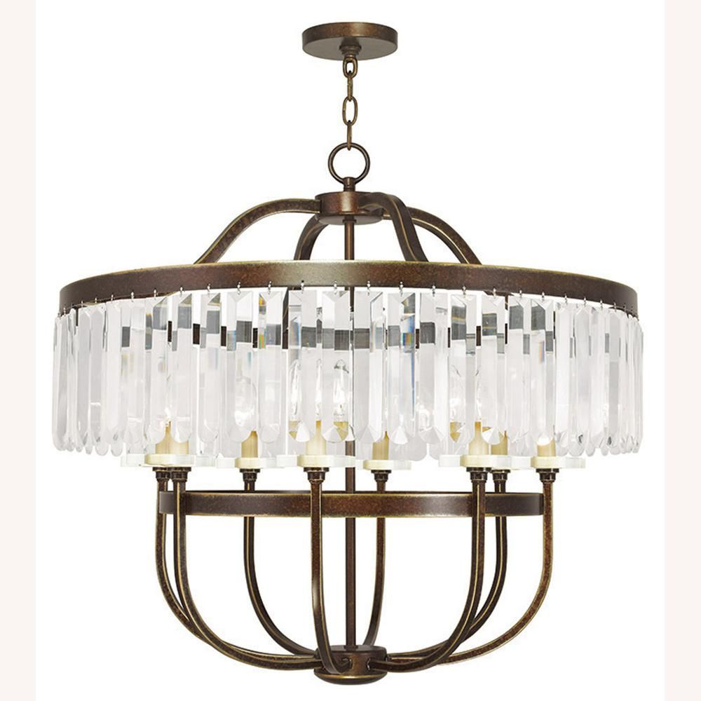 Photo of Livex Lighting Ashton 8-Light Palacial Bronze Chandelier-505…