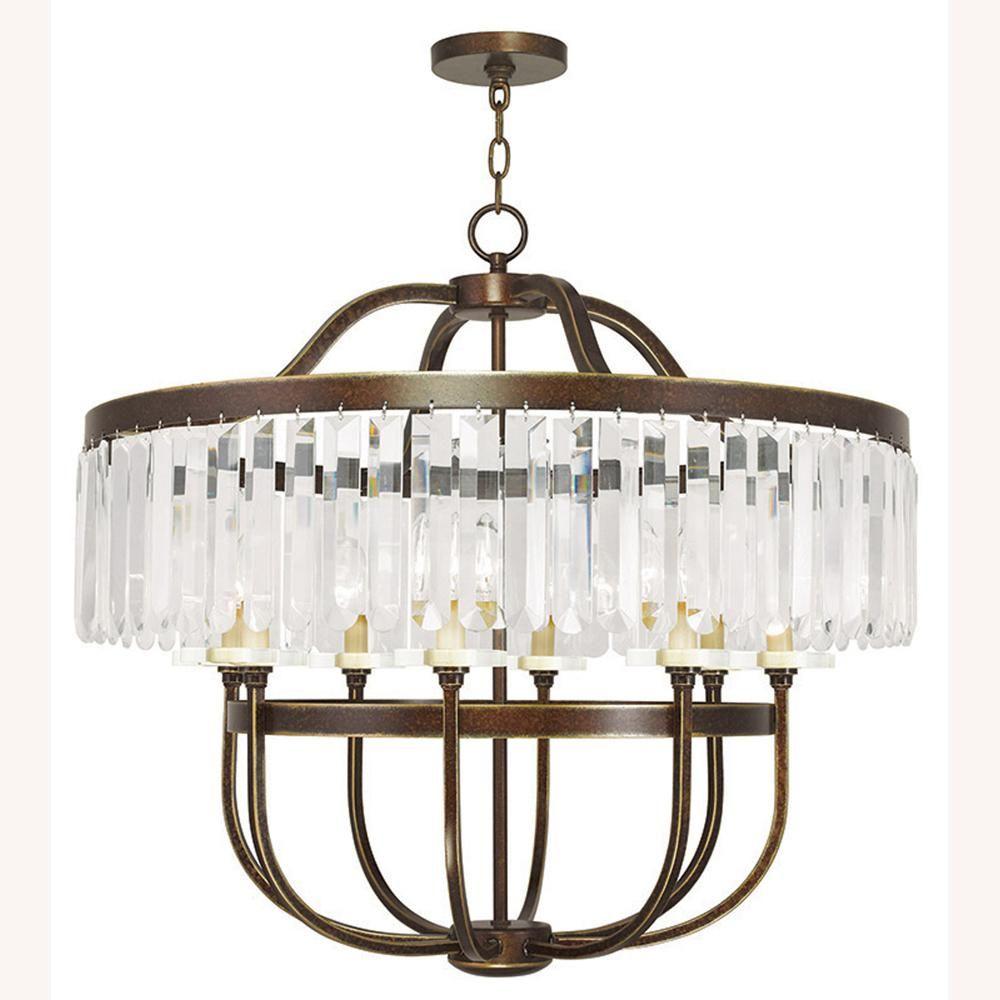 Photo of Livex Lighting Ashton 8-Light Palacial Bronze Chandelier-505…