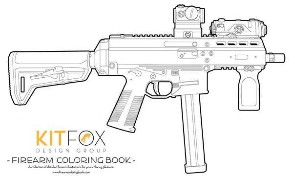 Kitfox Firearm Coloring Book Coloring Books Wooden Toys Plans Firearms