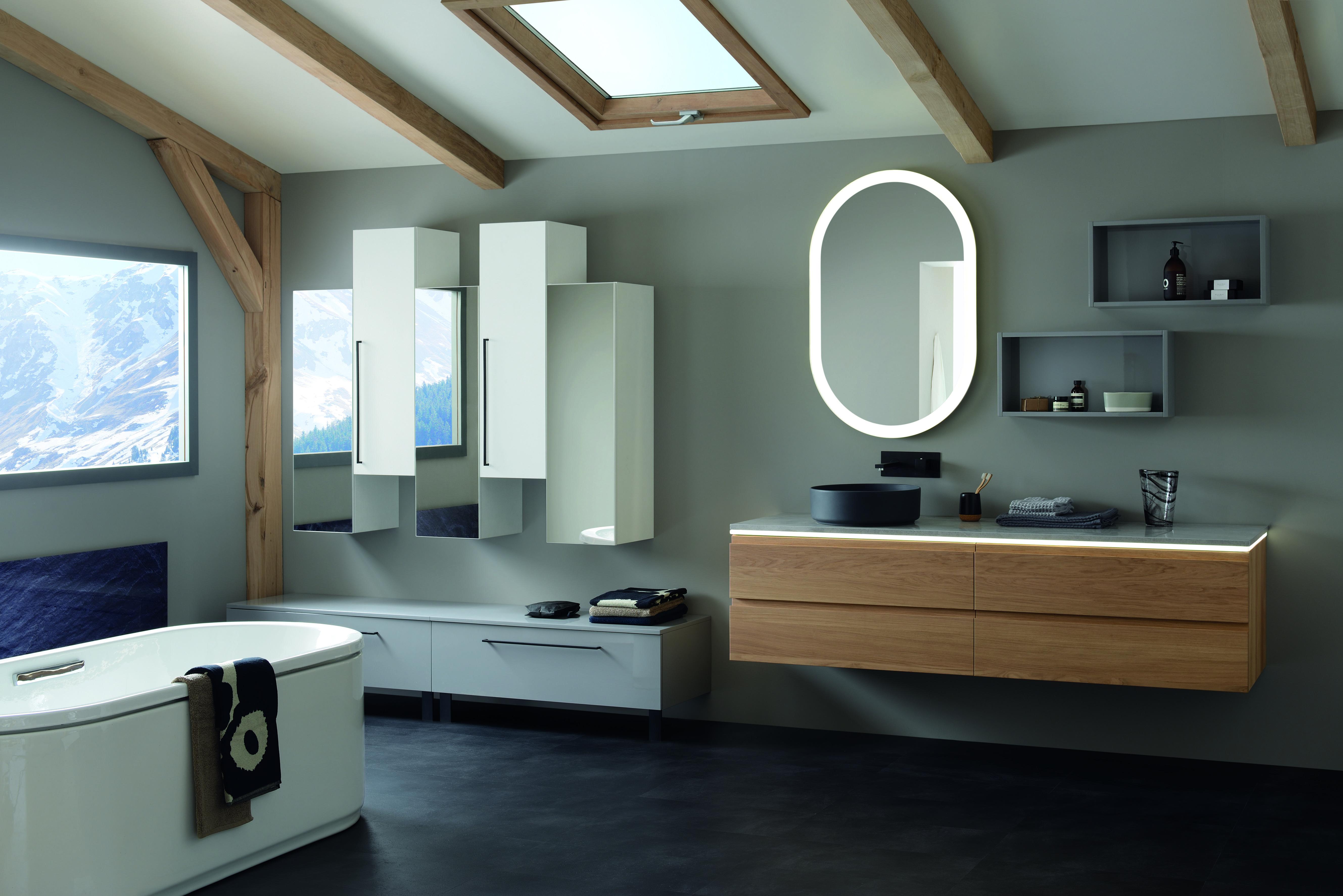 badkamermeubel meuble salle de bains sanijura illusion lumen les styles de stijlen en. Black Bedroom Furniture Sets. Home Design Ideas