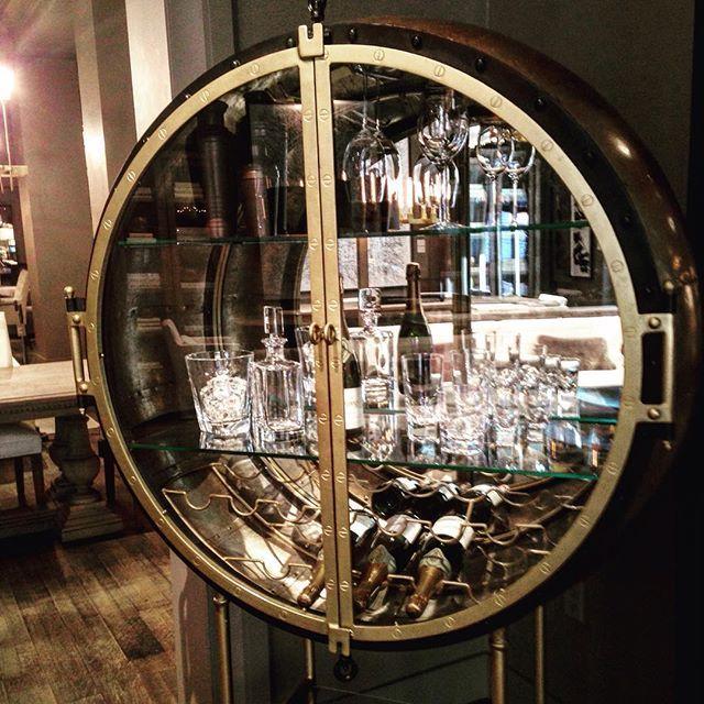 Want This Porthole Bar From Restoration Hardware