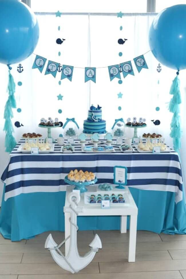 Boys Whale Themed Baby Shower Birthday Party