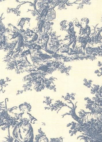 Sweet Pastimes Wedgewood Toile Fabric, Waverly Fabrics