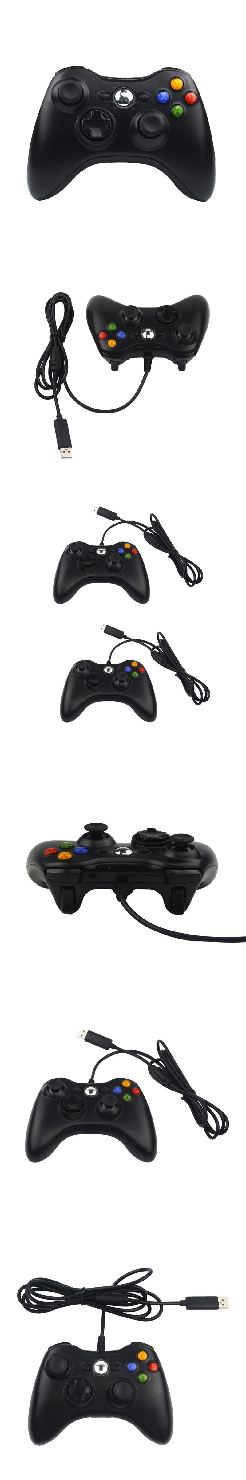 USB Wired Game Controller Shaking Gamepad Joypad Joystick For Xbox ...