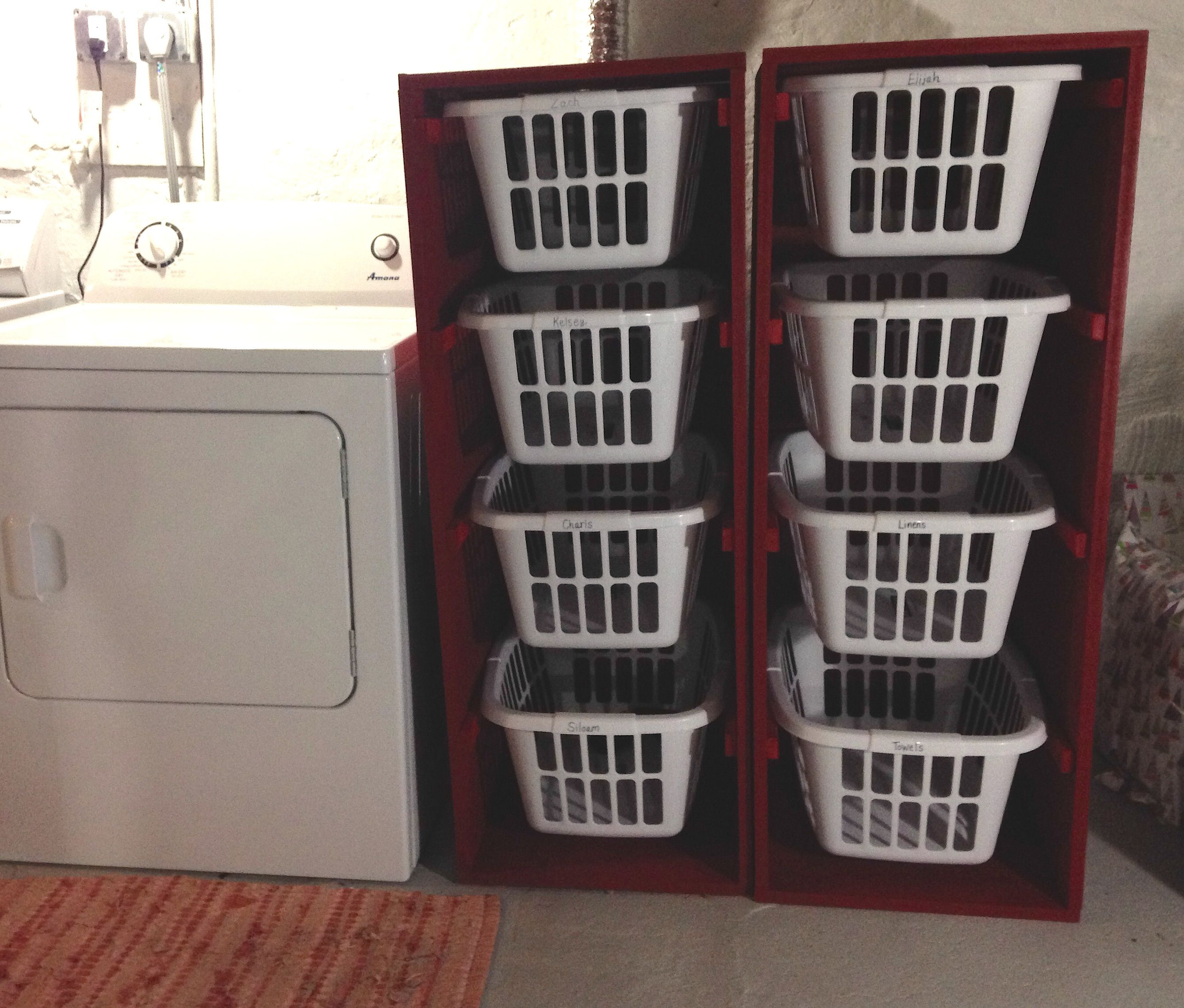Ana White Laundry Sorter Love These Bins Diy Projects