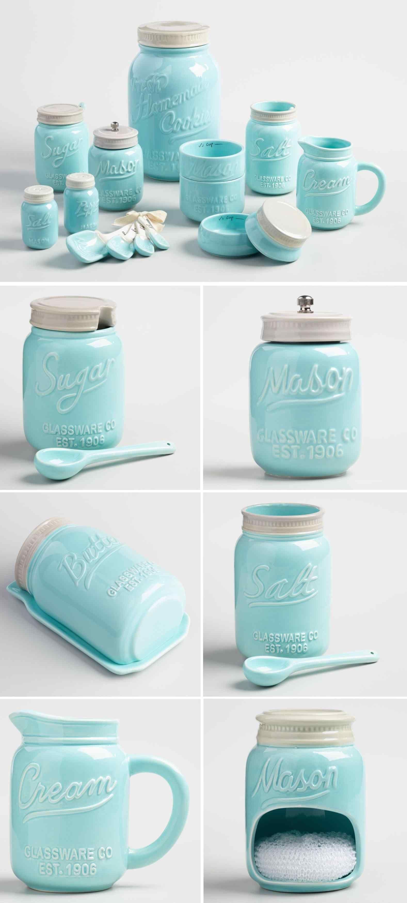 Top And Wonderful Mason Jar Kitchen Decor Set Ideas