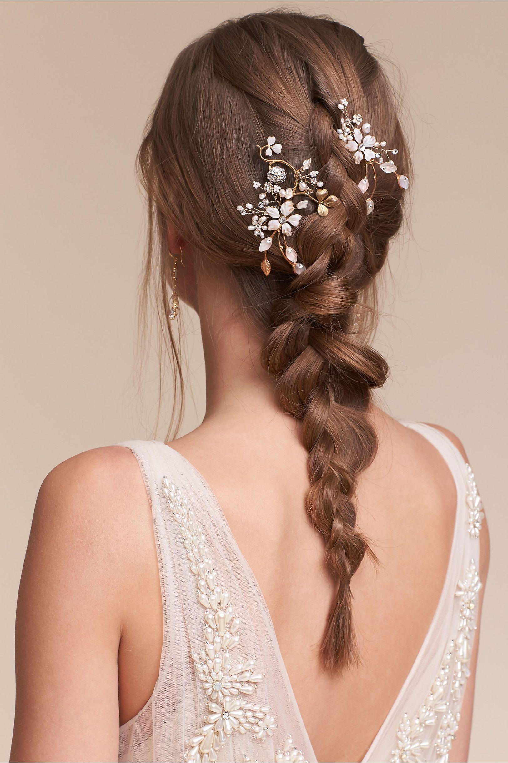 bhldn winter garden combs in bride veils & headpieces pins