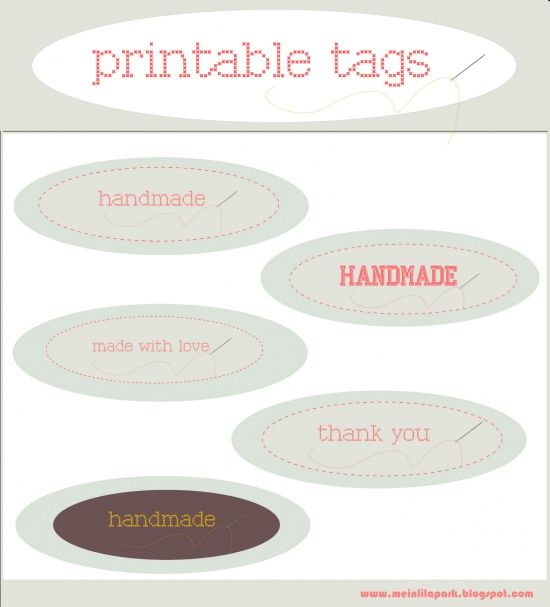 Oval tags templates pinterest free printable labels free printable tags handmade and made with love and scrap tags etiketten im nhlook freebies negle Images