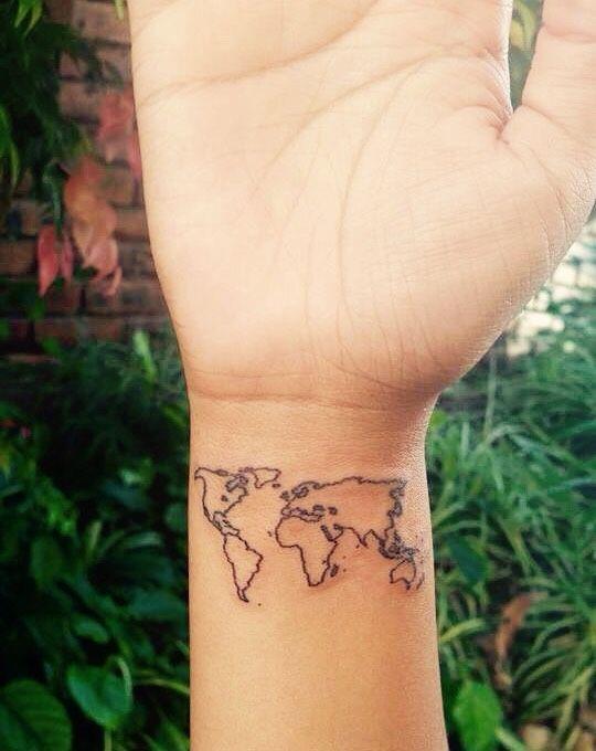 Wrist world map tattoo google search tattoo inspiration wrist world map tattoo google search gumiabroncs Images