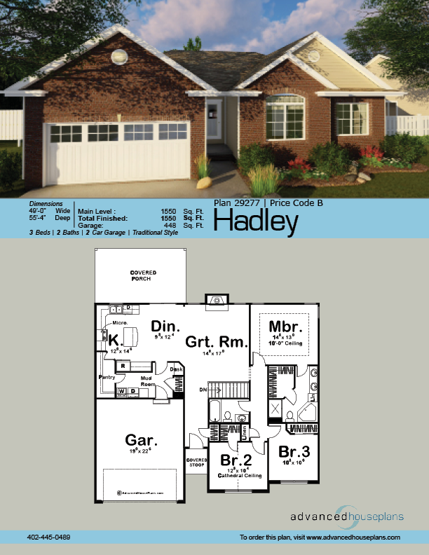 1 Story Traditional House Plan Hadley Dream House Plans House Plans Traditional House Plan