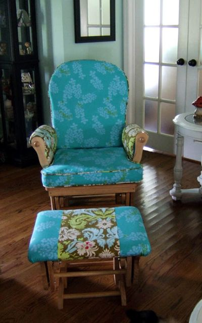 how to recover glider rocking chair cushions height adjustable don t forget about at home pinterest this would be a great update the rocker i refuse get rid of because rocked both my kiddos in it