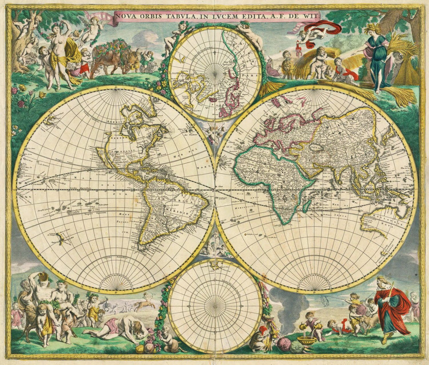 Ancient map, World map poster, Wall world map, Ancient, World globe ...