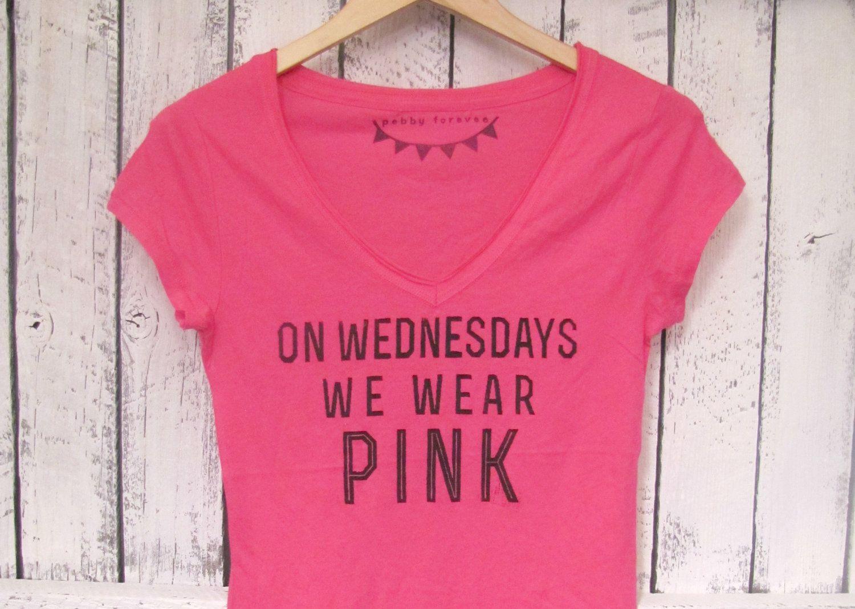 7ae434fe FREE SHIPPING- Mean Girl Shirt, On Wednesdays We Wear Pink, Hipster Shirt, Mean  Girls (women, teen girls). $28.50, via Etsy.