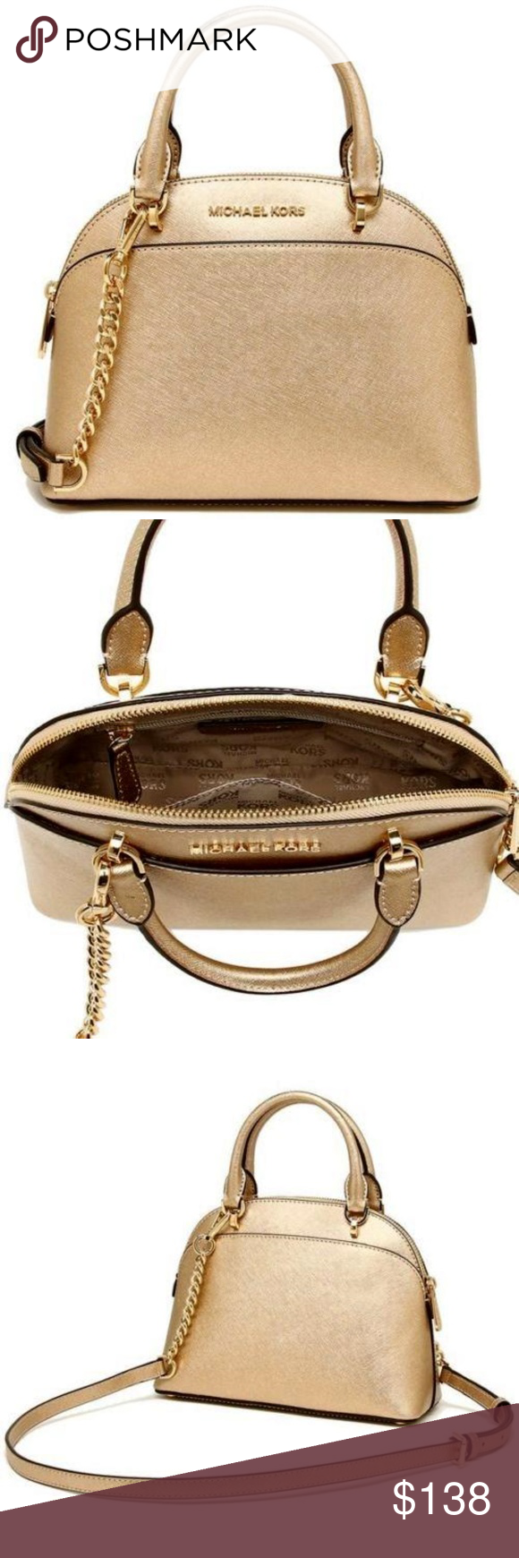 Michael Kors Emmy Small Dome Satchel 100% Authentic Michael Kors! Buy with  confidence! 5b11426be905f