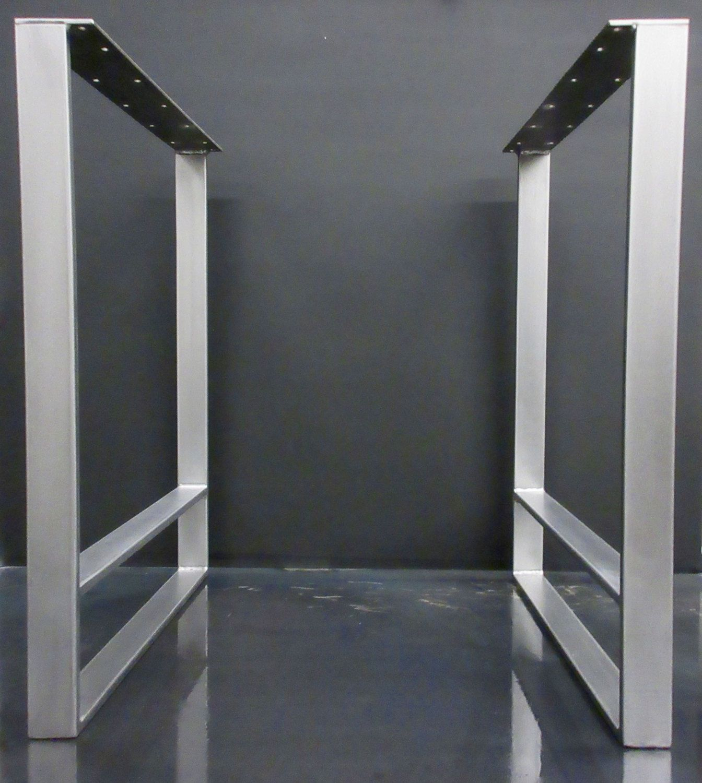 Brushed Steel Table Legs