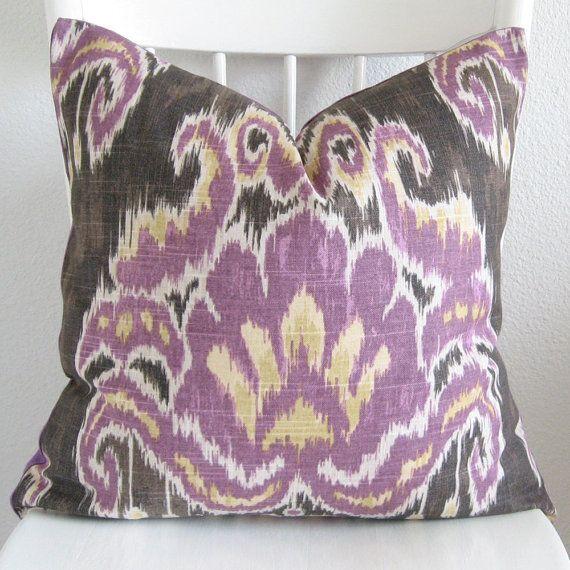 Marreskesh Ikat Dusk Purple Decorative Pillow Cover