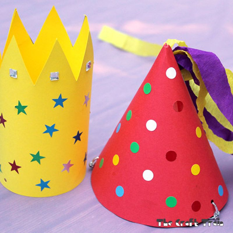 Make your own party hats Printable party and Fun activities - Party Hat Template