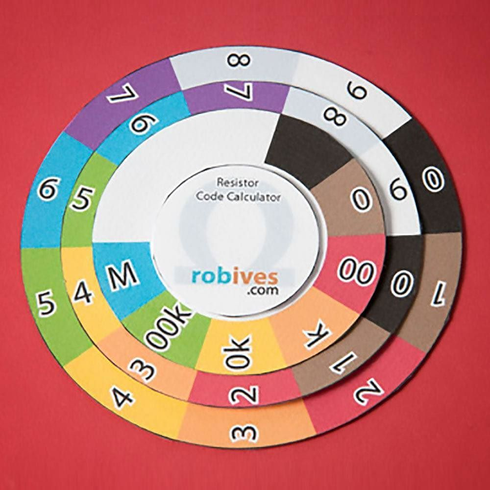 Resistor Colour Wheel To Download And Make Turn The Wheels And Calculate The Value Of Your Resistors Http Ift Tt 2pbulws El Resistors Color Wheel Coding