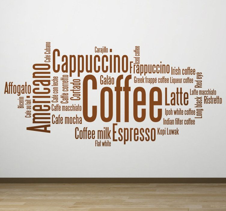 Vinilo Decorativo Conceptos Cafe Coffee Wall Art Cafe Sign