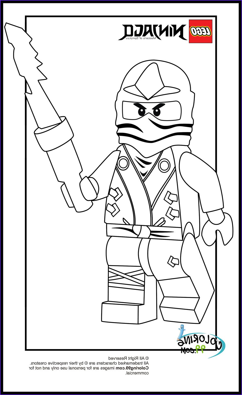 Lego Ninjago Zane Coloring Pages In 2020 Coloring Books