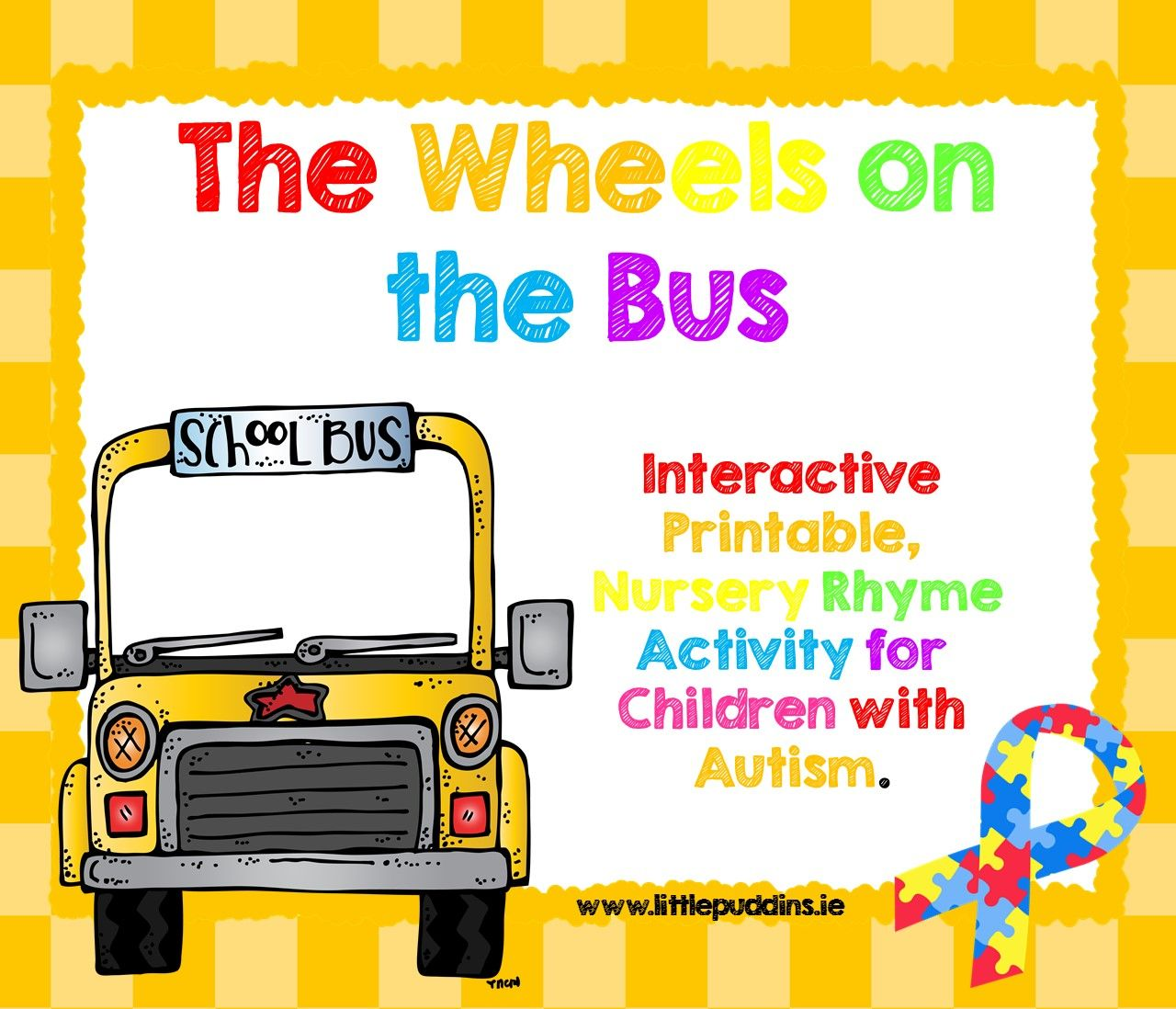 Wheels On The Bus Free Printable With Images Wheels On The Bus
