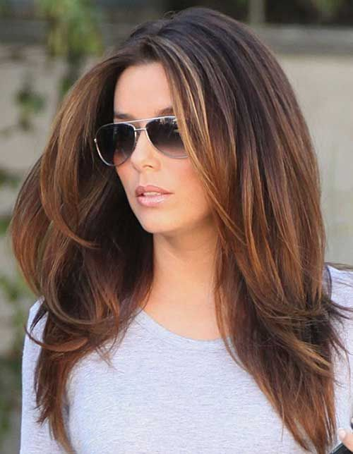 Eva Longoria Hairstyles Adorable 20 Layered Long Hairstyles Every Lady Needs To See  Pinterest