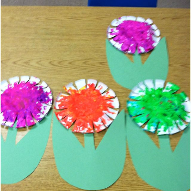 Paper Bowl Flower Made With My 2 Year Olds At Preschool