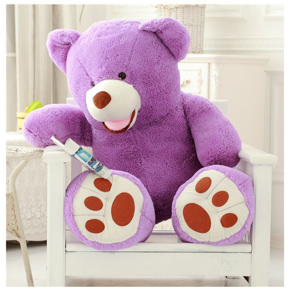 Teddy bear toys images  YunNasi  inch Purple Giant Teddy Bear Plush Stuff Animal Toy