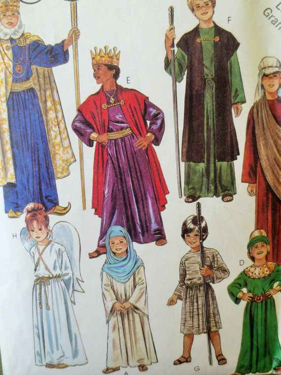 McCall\'s 2067 Sewing Pattern, Christmas Pageant Costumes Biblical ...