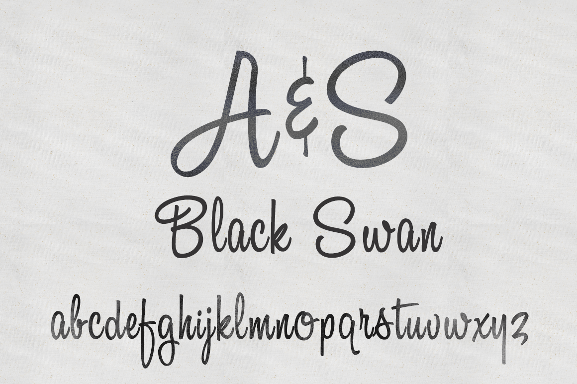Download A & S Black Swan Font- Free download this is a nice ...