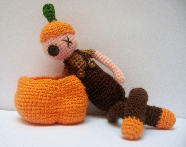 Halloween Amigurumi Crochet Pattern : Pattern halloween pumpkin doll crochet halloween amigurumi spooky