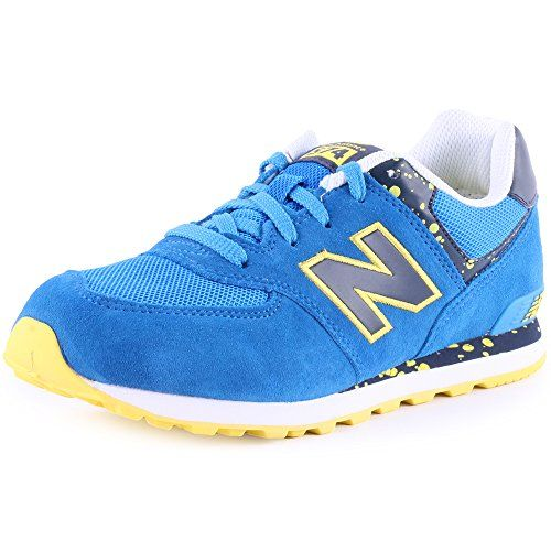 New Balance 574 Trainers - Blue/Yellow - http://on-line-kaufen.de ...