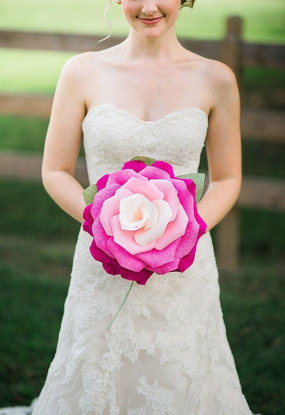 Large Paper Flower Ombre Paper Rose Wedding Decoration Wedding